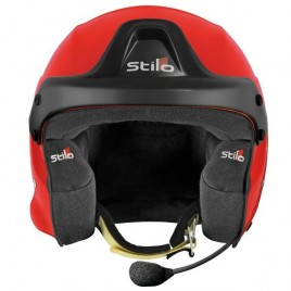 Casque Stilo Trophy DES Fibre Orange Hans SA15