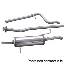 Ligne Groupe N inox RMS 60mm Renault Clio 3 RS 197 2006-2009