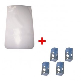 Pack Bavettes Blanches + 4 Fixations pour Bavettes