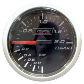 Manomètre Prosport Pression Turbo Diamètre 52mm -1 à +2 Bars